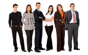business team standing